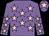 Mauve, pink stars, mauve cap, pink star (Mrs Christine Hopper)