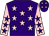 Purple, pink stars, pink sleeves, purple stars and stars on cap (Mr A R Evans)
