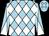 Light blue and white diamonds, diabolo on sleeves (Mrs Vivienne Kinder)