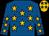 Royal blue, old gold stars, old gold cap, royal blue stars (Mr K Stander)