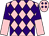 Pink & purple diamonds, halved sleeves, purple diamonds on cap (Garden Racing Syndicate)