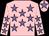Pink, mauve stars, pink cap, mauve star (Pink Punters & Partners)
