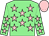 Light green, pink stars, pink cap (Mr Paul Marks & Mrs N Marks)