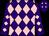 Purple & pink diamonds, purple cap, pink diamonds (Donal O'Connor)