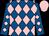 Royal blue & pink diamonds, pink cap (Simon J H Davis)