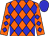 Orange body, blue diamonds, orange arms, blue diamonds, blue cap (M Piochaud)