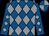 Royal blue and grey diamonds, quartered cap (Mr Ron Bauer)