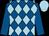 Royal blue & light blue diamonds, royal blue sleeves, light blue cap (Stargazer Syndicate)