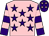 Pink, purple stars, purple & pink hooped sleeves, purple cap, pink stars (No More Plans Syndicate)