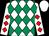 White & emerald green diamonds, white sleeves, red diamonds, white cap (Michael J Mulligan & Patrick G Walsh)