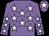 Mauve, white stars, white star on cap (O B Syndicate)