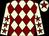 Beige & maroon diamonds, maroon stars on sleeves, maroon star on cap (Gilbert de Meester)