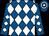 Royal blue & white diamonds, hooped cap (Shoot A Hoop Syndicate)