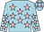 Light blue, pink stars (Ms R Carey)