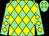 Light green & yellow diamonds, light green cap, yellow diamonds (T Cullen)