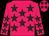 Rose body, dark green stars, rose arms, dark green stars, rose cap, dark green stars (Wj Cargeeg)