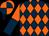 Dark blue & orange diamonds, halved sleeves, quartered cap (Fontstown Syndicate)
