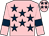 Pink, dark blue stars and armlets (Mrs Judith Ratcliff)