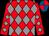Red & grey diamonds, red & royal blue quartered cap (Leslie Braithwaite)