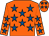 Orange, royal blue stars (Mr & Mrs F W Golding)