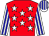 Red, white stars, white and blue striped sleeves and cap (Avontuur Estate (pty) Ltd (nom: Mr M J B Taberer))