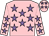 Pink, mauve stars (Miss C M McBride)