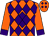 Orange, purple diamond, purple diamonds and cuffs on sleeves (Jason Thompson)