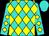 Turquoise, yellow diamonds, turquoise cap (Shana Schiemann)