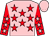 Pink, red stars, red sleeves, pink stars and cap (Aniol Chandler Medcroft Turner Westwoo)