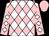 White and pink diamonds, pink sleeves, white diamonds, pink cap (Viola, Stephen M , Coburn, Richard, Bloom, Peter E And Johnson, Jonathan)