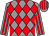 Grey and red diamonds, striped sleeves and cap (Dreaming Victory)