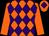 Orange and purple diamonds, orange sleeves, orange cap, purple diamond (The Cavalieri Partnership)