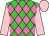 Lime green and hot pink diamonds, pink sleeves and cap (Zucchero Stables, Llc)