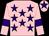 Pink, purple stars, armlets and star on cap (Mr Gary Tardi)