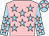 Pink, light blue stars, light blue sleeves, pink stars, light blue cap, pink star (Maddie Giles & Tom Ronaldson)