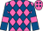 Hot pink, royal blue diamonds, hot pink bars on royal blue sleeves (Gavin-ty Racing Llc)