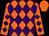 Orange, purple diamonds, orange cap (Triple AAA Ranch)