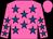 Hot pink, royal blue stars, hot pink cap (Arlene's Sun Star Stable)