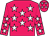 Rose body, white stars, rose arms, white stars, rose cap, white stars (G Goeffic)