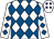 White and royal blue checked diamonds (Mr G B Nankervis)