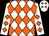 White, orange diamonds (George Wood, Ii)