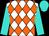 White and orange diamonds, turquoise sleeves and cap (Michael Ellis)