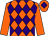 Orange and purple diamonds, orange sleeves, orange cap, purple diamond (The Cavalieri Partnership)