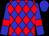 Blue, Red Diamonds, Red Bars on Sleeves, Blue Cap (Wayne Stroud)