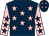 Dark blue, pink stars, pink sleeves, dark blue stars (Mrs Juliet Minton)