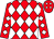 Red, white diamonds, white diamonds on sleeves (Charles Boudreaux, Jr)