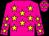Dayglo pink, dayglo yellow stars (Mr Blackie Swart)
