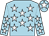 Light blue, white stars, light blue cap, white star (The Folly Partnership)