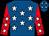 Royal Blue, White stars, Red sleeves, White stars and stars on cap (Mr Derek & Mrs Marie Dean)