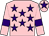 Pink, purple stars, armlets and star on cap (Mr Gary Tardi & Ownaracehorse Co Uk)